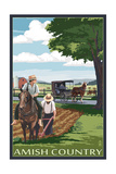 Amish Country - Field Scene Prints by  Lantern Press