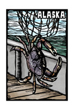 Alaska - Dungeness Crab - Scratchboard Prints by  Lantern Press