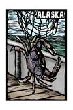 Alaska - Dungeness Crab - Scratchboard Prints by  Lantern Press
