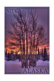 Sitka, Alaska - Tree in Snow Posters by  Lantern Press