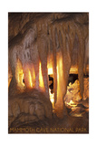Mammoth Cave, Kentucky - Drapery Room Prints by  Lantern Press