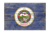 Minnesota State Flag - Barnwood Painting Posters by  Lantern Press