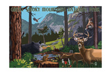 Great Smoky Mountains National Park - Wildlife Utopia Poster by  Lantern Press