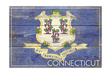 Connecticut State Flag - Barnwood Painting Posters by  Lantern Press
