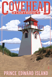 Prince Edward Island - Covehead Lighthouse Art by  Lantern Press