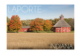LaPorte, Indiana - Door Prairie Print by  Lantern Press