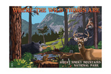Great Smoky Mountains National Park - Where the Wild Things are - Utopia Prints by  Lantern Press