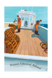 Prince Edward Island - Lobster Boat Prints by  Lantern Press