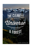 John Muir - the Clearest Way - Olympic National Park Prints by  Lantern Press