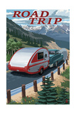 Road Trip - National Park WPA Sentiment Print by  Lantern Press