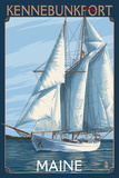 Kennebunkport, Maine - Sailboat Scene Posters by  Lantern Press