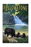 Bear Family - Yellowstone Prints by  Lantern Press