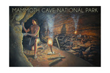 Mammoth Cave, Kentucky - Original Cave Painting Prints by  Lantern Press