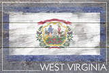 West Virginia State Flag - Barnwood Painting Posters by  Lantern Press