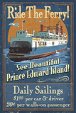 Prince Edward Island - Ferry Vintage Sign Posters by  Lantern Press