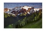 Olympic National Park, Washington - Mount Olympus Prints by  Lantern Press