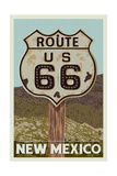 New Mexico - Route 66 Letterpress Posters by  Lantern Press