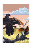 Vautours et condors Reproduction giclée Premium par  Lantern Press