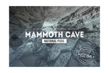 Mammoth Cave, Kentucky - Rubber Stamp Prints by  Lantern Press
