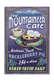 Montana - the Mountaineer Cafe - Huckleberry Pie Vintage Sign Prints by  Lantern Press