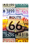 Route 66 License Plates - Highway Road Prints by  Lantern Press