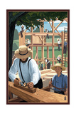 Amish Barnraising Scene Prints by  Lantern Press
