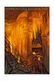 Mammoth Cave, Kentucky - Frozen Niagra Art by  Lantern Press