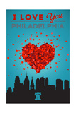 I Love You Philadelphia Prints by  Lantern Press