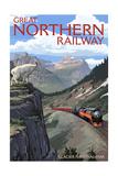 Glacier National Park, Montana - Great Northern Railway Prints by  Lantern Press