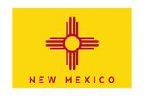 New Mexico State Flag - Letterpress Prints by  Lantern Press