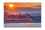 Quebec, Canada - Sunset over City Posters by  Lantern Press