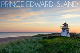 Prince Edward Island - Covehead Lighthouse and Sunset Posters by  Lantern Press