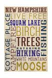Squam Lake, New Hampshire Prints by  Lantern Press