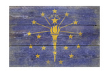 Indiana State Flag - Barnwood Painting Prints by  Lantern Press