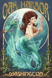 Oak Harbor, Washington - Mermaid Prints by  Lantern Press