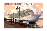 Prince Edward Island - Charlottetown Cruise Ship Print by  Lantern Press