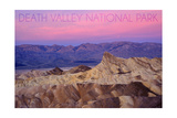 Death Valley National Park - Zabriskie Point and Sunset Posters by  Lantern Press