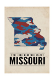 Missouri - the Iron Mountain State - Camo State Posters by  Lantern Press