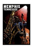 Memphis, Tennesse - Jazz Scene Scratchboard Print by  Lantern Press