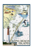 Long Beach Island - Nautical Chart Posters by  Lantern Press