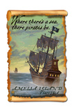 Amelia Island, Florida - Pirate Ship Art by  Lantern Press