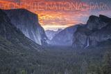 Yosemite National Park, California - Valley at Sunset Prints by  Lantern Press