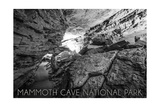 Mammoth Cave, Kentucky - Black and White Prints by  Lantern Press