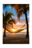 Hammock and Sunset Print by  Lantern Press