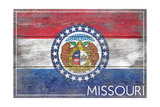 Missouri State Flag - Barnwood Painting Prints by  Lantern Press