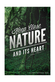 John Muir - Keep Close to Nature - Olympic National Park Print by  Lantern Press