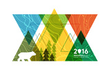 National Park Service Centennial - Triangles Posters by  Lantern Press
