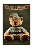 Theodore Roosevelt National Park - Teddy Bear Posters by  Lantern Press