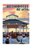 Rehoboth Beach, Delaware - Bandstand Posters by  Lantern Press