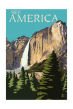See America - National Park WPA Sentiment Poster di  Lantern Press